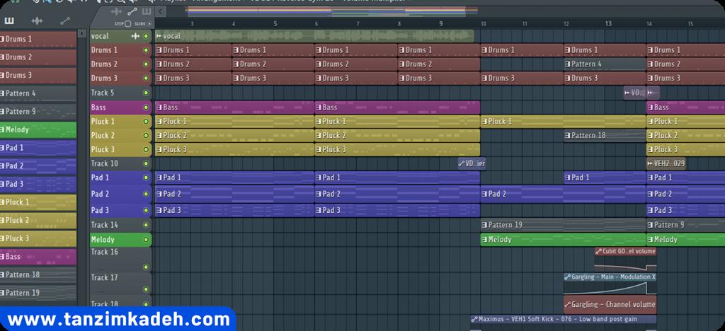آموزش آهنگسازی آموزش تنظیم آهنگ تنظیم کده
